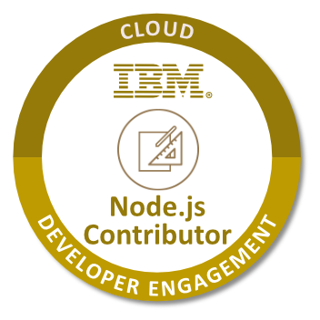 Node.js Contributor IBM Badge